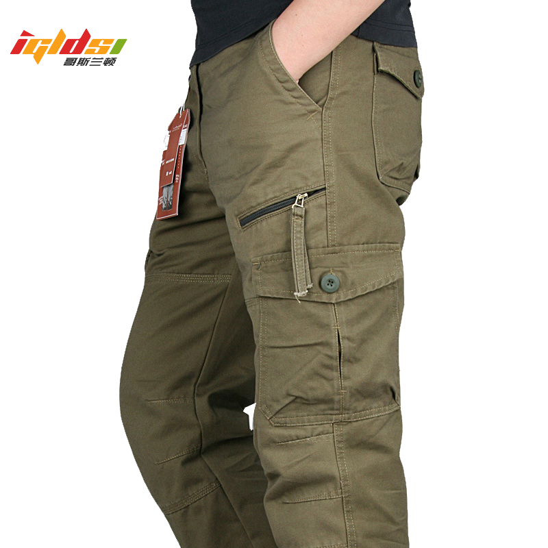 New 2020 Men Cargo Pants Multi Pockets Military Tactical Pants Men Outwear Streetwear Army Straight Slacks Casual Long Trousers(China)