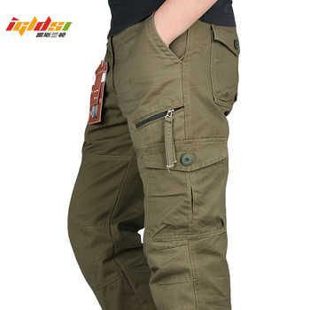 Nouveau 2020 hommes Cargo pantalon Multi poches militaire tactique pantalon hommes Outwear Streetwear armée droite pantalons décontracté pantalons longs