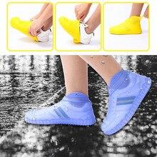 Плотные силиконовые непромокаемые сапоги прозрачный нескользящий непромокаемый костюм водонепроницаемые бахилы домашняя Пыленепроницаемая обувь сумка для хранения