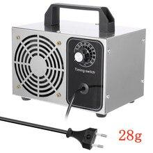 220V Ozon Generator 28g 24g Desinfektion Maschine Luft Filter Purifier Fan Für Home Auto Formaldehyd sanitizer mit timing Schalter