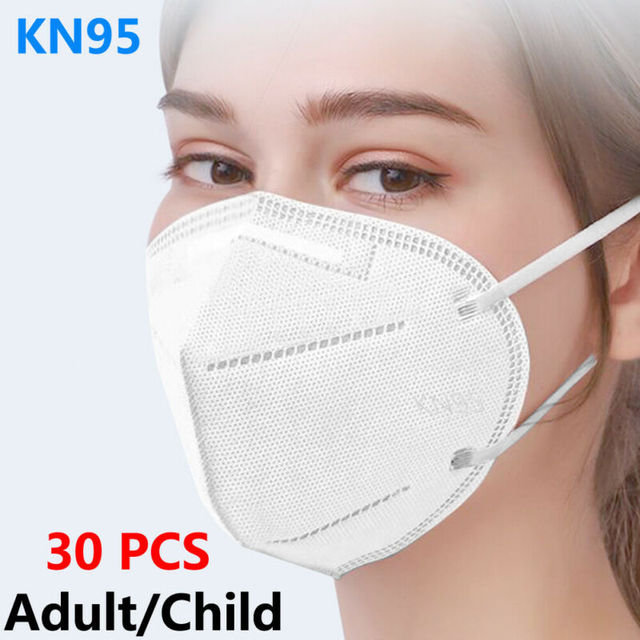 KN95 Non-woven Baby Protective Mask Anti-flu Health Care Standard Proof Safety Protective Mouth for Adults and Child 30 PCS 1