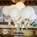 5-36inch Big Matte White Latex Balloons Macarone Color Inflatable Helium Balloon Birthday Party Wedding Decorations Kids Toys
