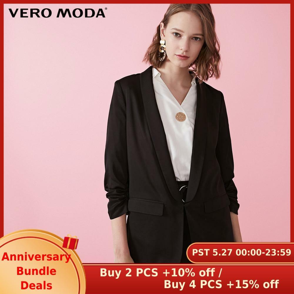 Vero Moda Women's 3/4 Sleeves Thin Shoulder Pads Blazer | 319108544