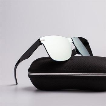 2020 Fashion One-piece Cat Eye Sunglasses Women/Men Gradient Lens Retro Mirror Rimless Sun Glasses Vintage Travel Eyewear Oculos 2