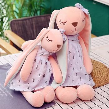 45CM/55CM/65cm Cute Cartoon Long Ears Rabbit Plush Doll Toys Bunny Stuffed Plush Toy for baby Rabbit Sleeping Mate Animal Toy