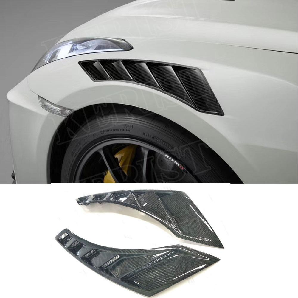 For Nissan GTR R35 OEM Carbon Fiber Hood Bonnet Vents Air Intake Tunnel BodyKits