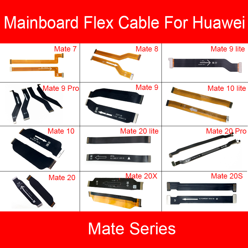 Motherboard Main Board Flex Cable For Huawei Mate S 20X 20 10 9 8 7 Pro Lite Mainboard LCD Flex Ribbon Cable Replacement Repair