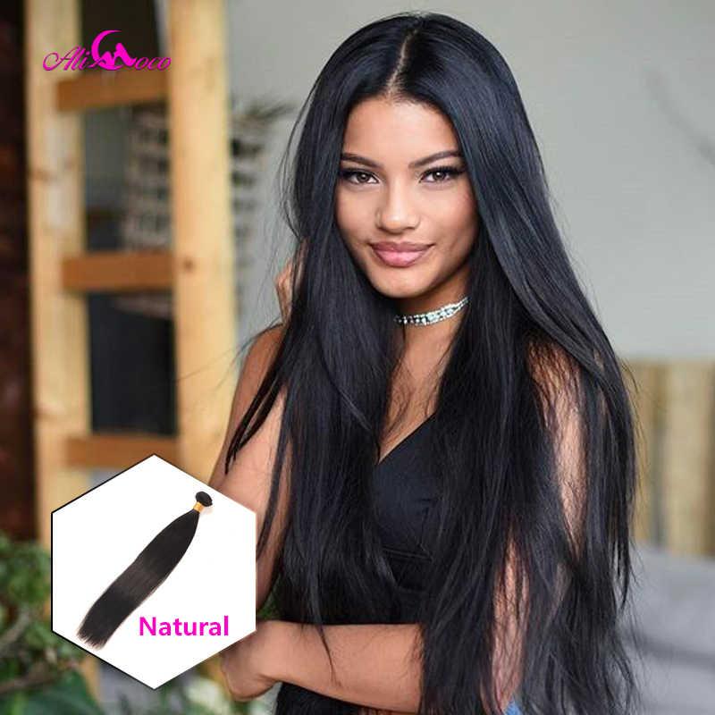 Ali Coco Peruaanse Steil Haar 8-30 Inch 1/3/4 Bundels Haar Natuurlijke #2/ #4/#613/Menselijk Haar Bundels Niet Remy Hair Extensions