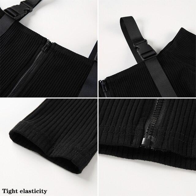 Spring T Shirt Women Long Sleeve T-shirt Crop Top 2020 Korean Fashion Style Feminina Knitted Cotton Black Sexy Short tshirt 4