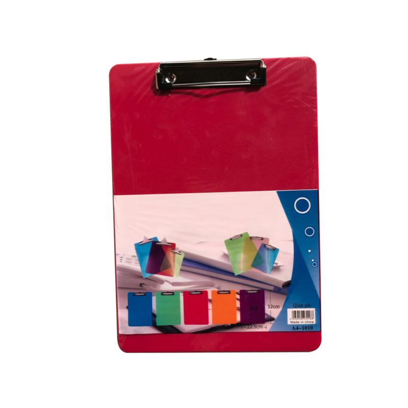 Plastic Clipboard A4 Size File Clip Board Letter Size Home Office Working Paper Clip Holder Practical Storage