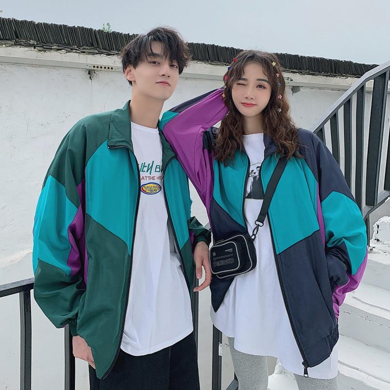 Rack Jacket Men's Fashion Hit Color Casual Baseball Uniform Jackets Mens Streetwear Wild Loose Hip Hop Bomber Jacket Men S-2XL
