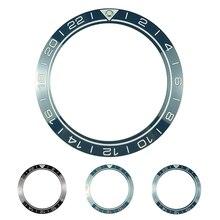 新 41.5 ミリメートル gmt 高品質セラミックベゼルカバーのためのダイバーメンズ腕時計腕時計交換アクセサリーブルー/黒