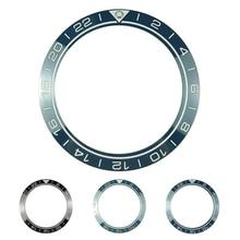 Novo 41.5mm gmt alta qualidade cerâmica bezel inserir para diver relógio masculino relógios substituir acessórios azul/preto