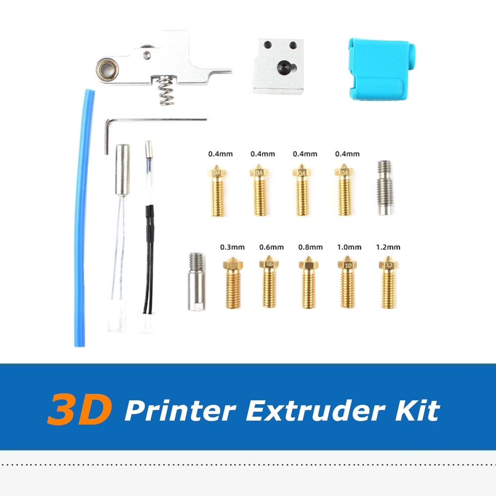 Artillery 3D Printer Sidewinder X1   Genius Nozzle Hotend Silicone Sleeve Throat Handle Thermistor Heating Pipe Heated Block Kit