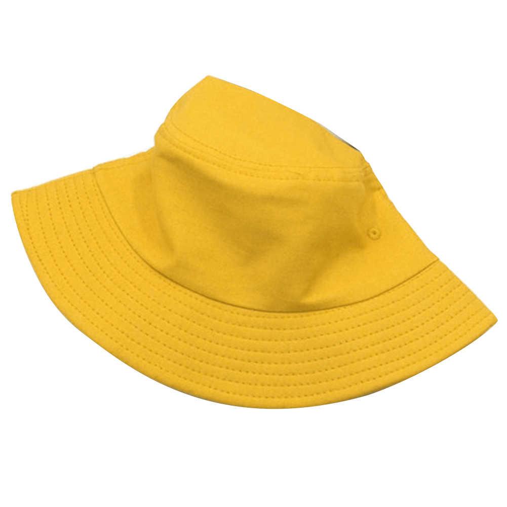 2019 ファッションユニセックス固体黄色夏バケットキャップ男性の女性のビーチ太陽の帽子屋外ヒップホップフィッシャー帽子