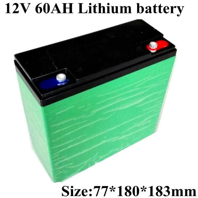 Большая емкость 12 в 60 А · ч комплект литий ионный батарей Перезаряжаемый для 12 в 300 Вт солнечного уличного освещения электромобиля + зарядное устройство