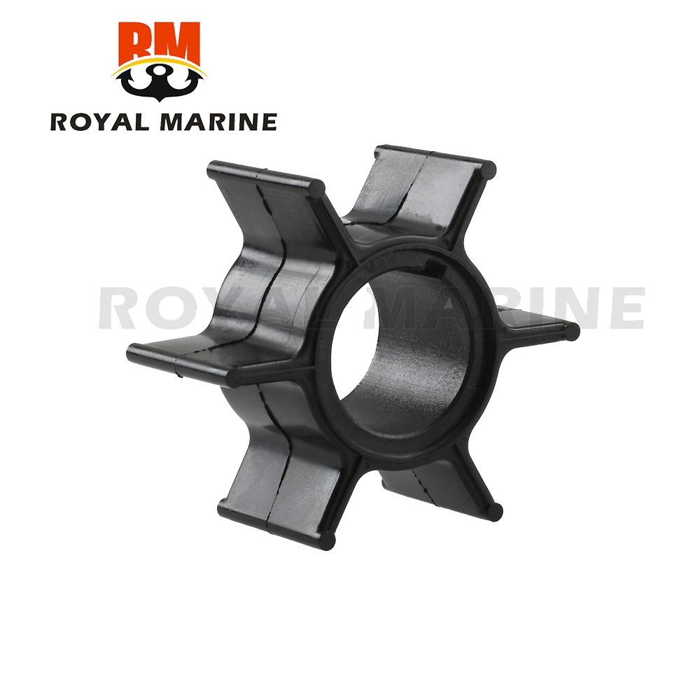 25/30/40HP Outboard Motor Water Pump Impeller For Tohatsu & for Mercury 345-65021-0 18-8923 Rubber Black Diameter 4.4cm 6 Blade