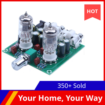 AC 12V 6J1 Valve Pre-amp Tube PreAmplifier Board Headphone Amplifier Buffer diy kit ac 12v 6j1 tube fever pre amplifier preamp amp pre amplifier board headphone buffer module stereo potentiometer valve