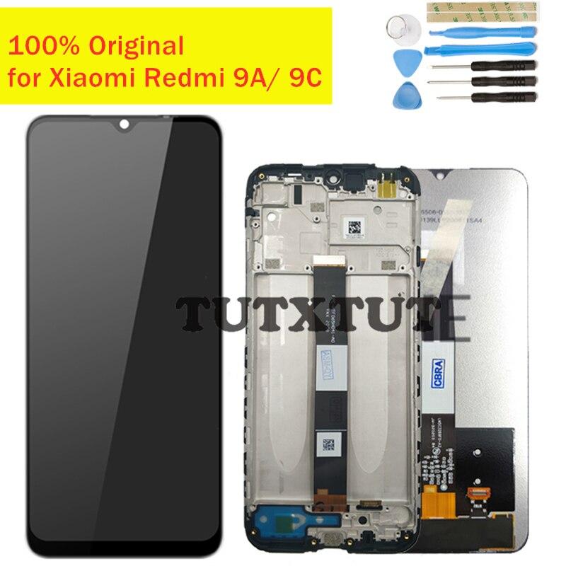 Оригинальный ЖК-дисплей для Xiaomi Redmi 9A/ 9C, сенсорный экран с дигитайзером в сборе, ЖК-дисплей, 10 точек касания, запасные части