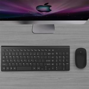 Image 5 - 2,4G Wiederaufladbare Wireless Tastatur Maus Combo Set Spanisch/Deutsch/Italienisch/UNS Tastatur und 2400 DPI Mäuse, für Computer PC Laptop