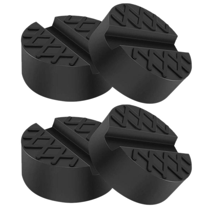 4pcs Universal Car Lift Mat Pad Round Rubber Jack Truck Hoist Accessorie Arm Pad