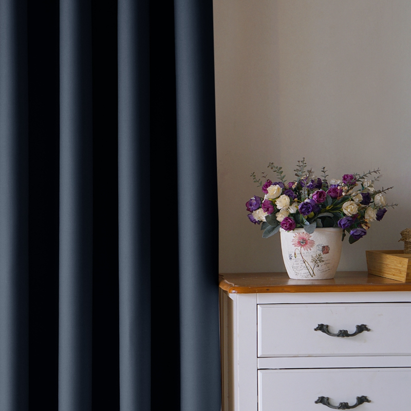 Solid Color Blackout Curtain For Living Room Bedroom Modern High Shadin Home Window Curtain Finished Customizable Drapes 1 Panel