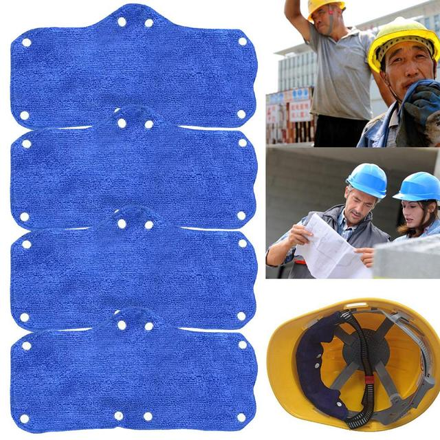 1pc Summer Selling Beat The Heat Blue Snap-on hard hat sweatband sweat belt for Safety helmet inner 1