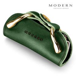 Современный бренд, держатель для ключей из натуральной кожи, кошелек, органайзер для ключей для мужчин и женщин, брелок для ключей, сделай са...