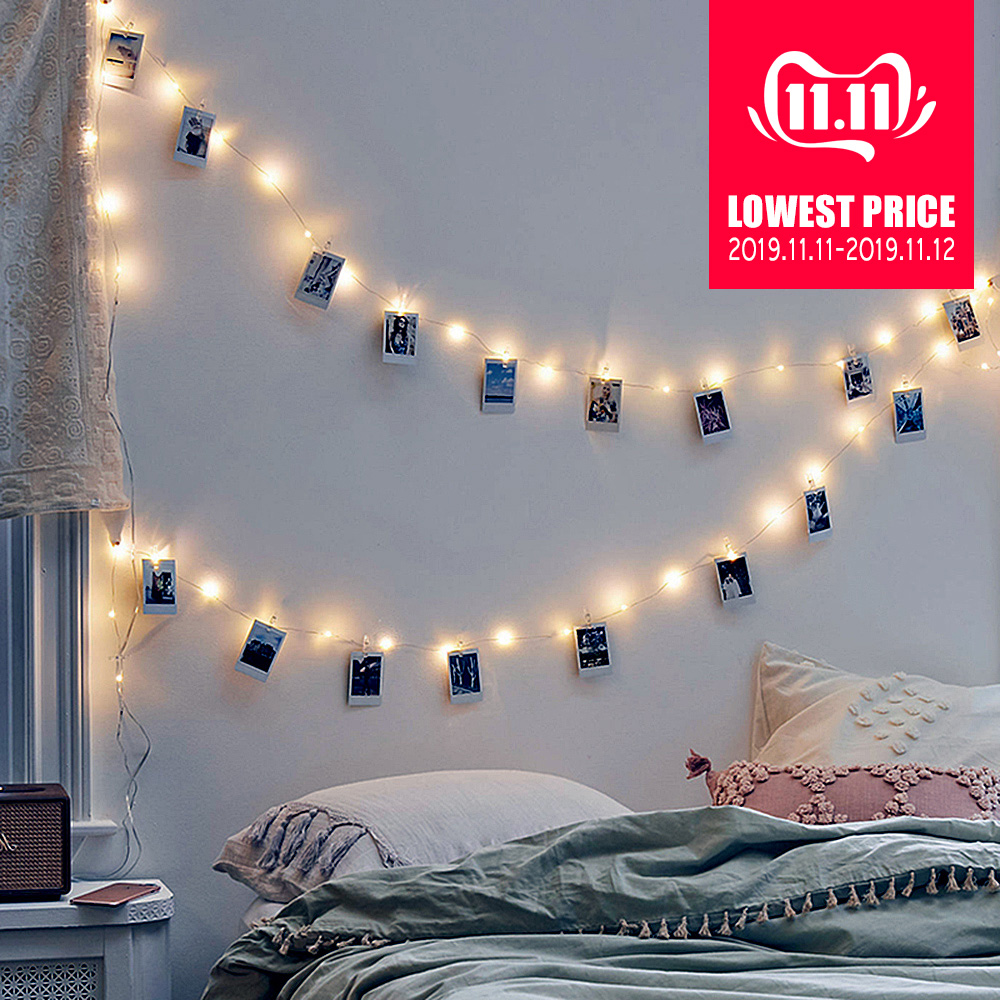 1M 2M 5M 10M LED Photo Clip String <font><b>Lights</b></font> USB Battery Powered Fairy <font><b>Lights</b></font> Garland Christmas holiday <font><b>Home</b></font> Party <font><b>Decoration</b></font> image