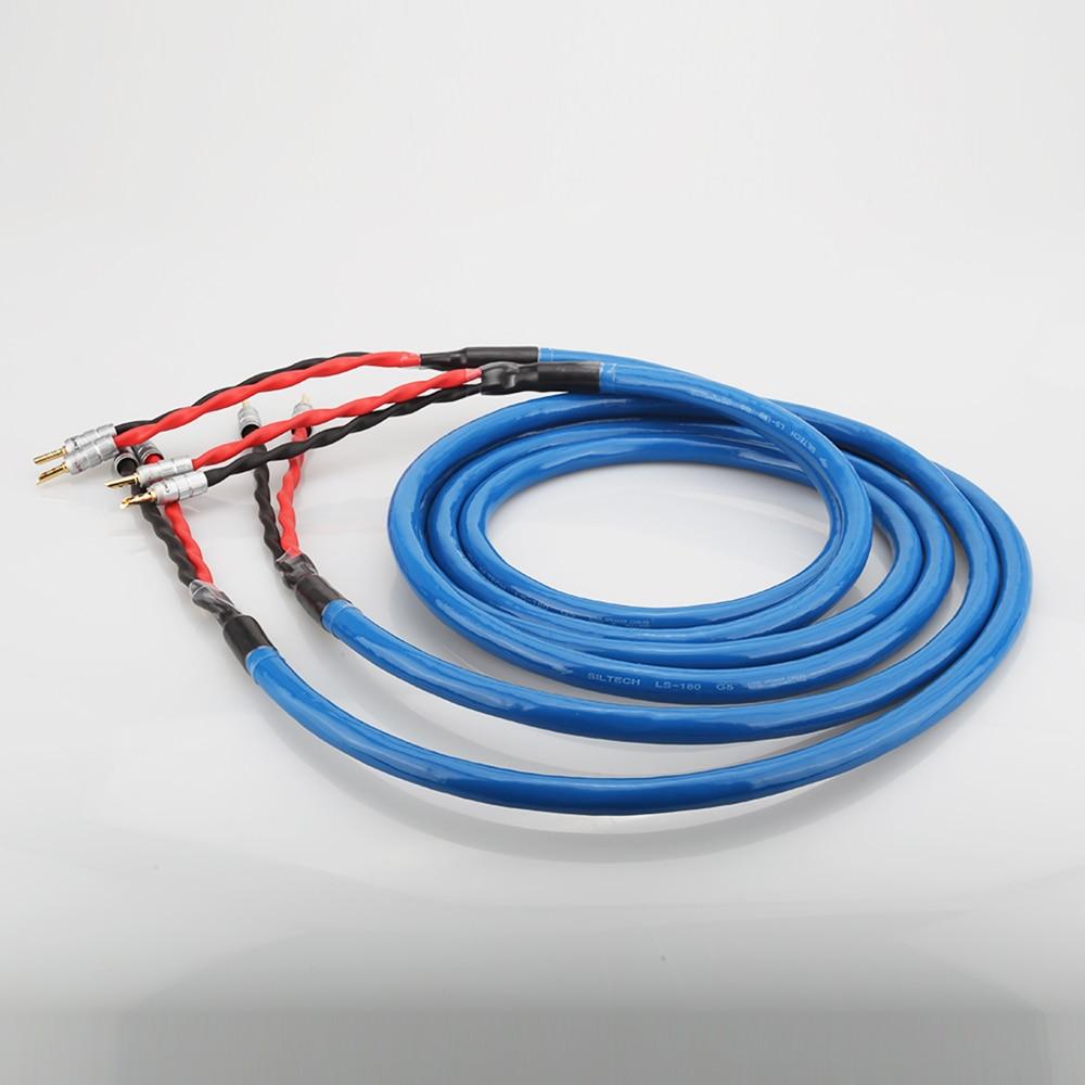 Cable de altavoz chapado en plata y cobre LS-180 con conector Banana chapado en oro CMC cable de altavoz hifi - 2