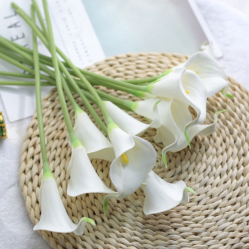 CHENCHENG 10 Pieces/Lot PU Artificial Flowers Calla Lily Bunch For Table Home Wedding Decoration 1