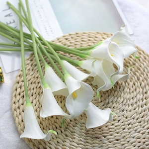 Image 2 - CHENCHENG 10 Pieces / Lot PU Artificial Flowers Calla Lily Bunch Fake Flower Bouquet Table Home Wedding Decoration Fall Decor