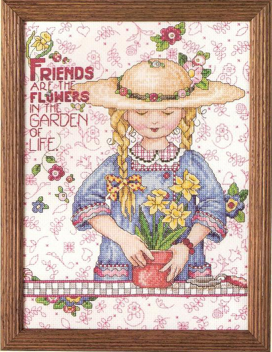 FF Friends of Magazine Blossoms Counted Cross Stitch Kit Cross stitch RS cotton with cross stitch <font><b>Merejka</b></font> image