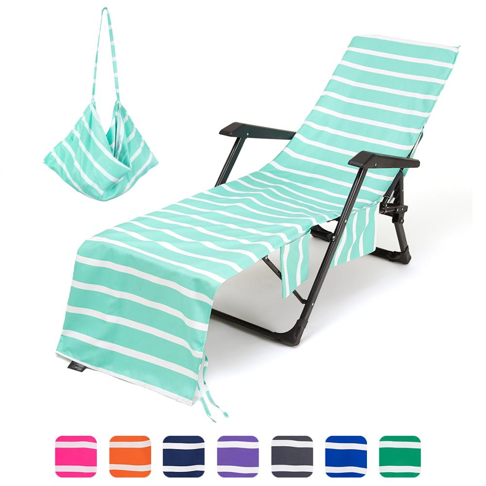 beach lounge chair cover chaise lounge chair towel cover with side pockets lounge chair mate for swimming pool sun lounger