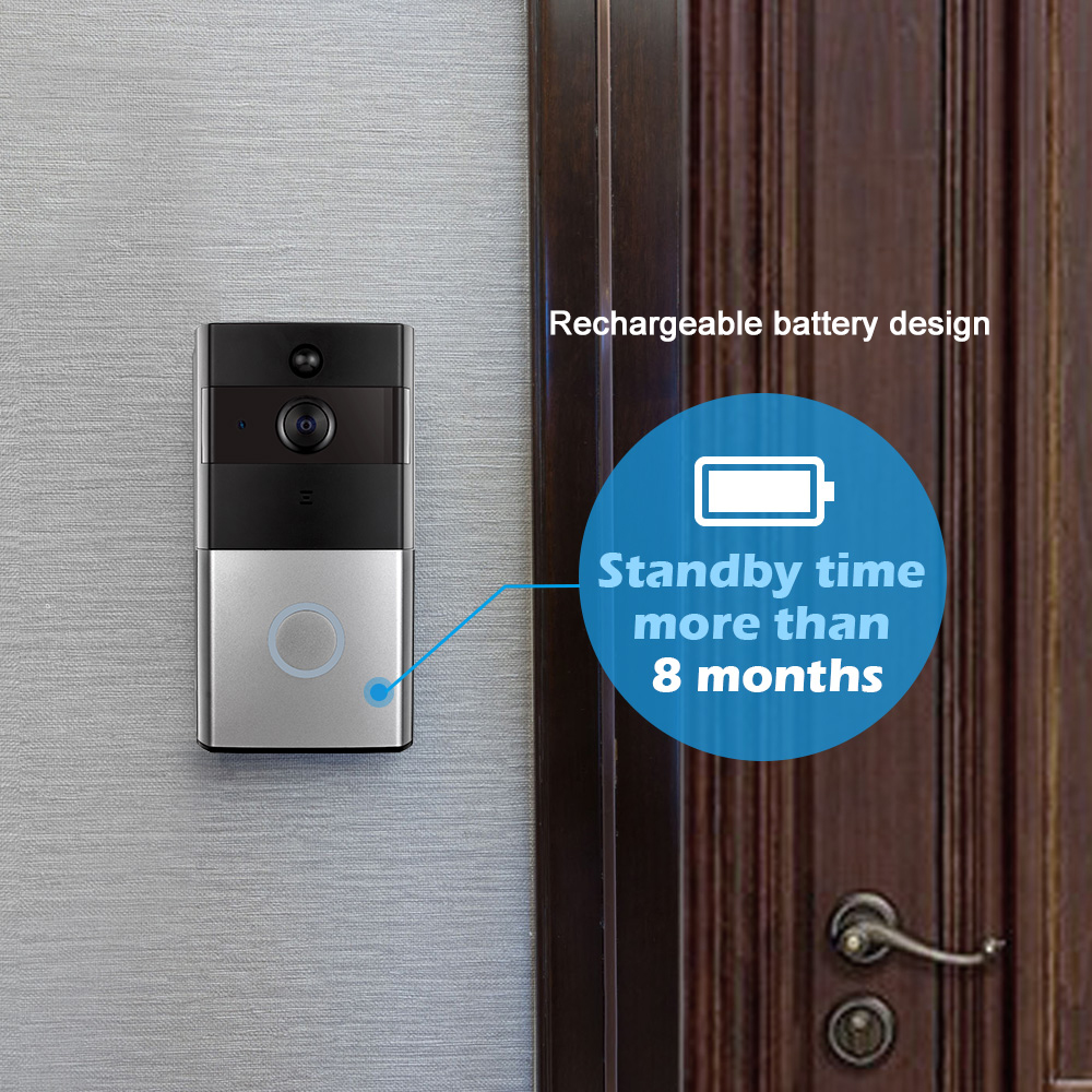 Купить с кэшбэком KERUI WIFI Intercom Doorbell HD1080P Tuya App Home Security Camera Doorbell Built-in Battery With Two-Way Audio Video Playback