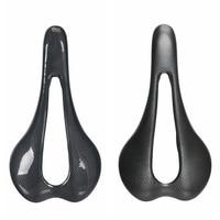 NO LOGO Carbon Fiber Saddle Road Bike Mountain Road Bicycle Hollow Cushion Seat Carbon Bow 7*9 Matte Glossy Black|Bicycle Saddle| |  -