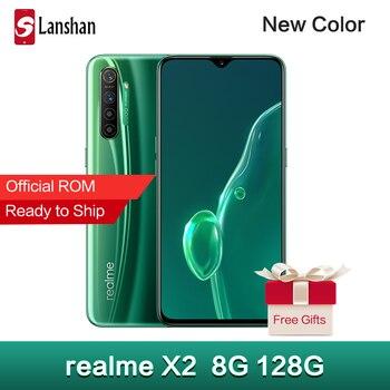 Перейти на Алиэкспресс и купить Realme X2 X 2 NFC 6 Гб 64 Гб 6,4 дюйма Мобильный телефон Snapdragon 730G 64-мегапиксельная четырехъядерная камера 30 Вт Быстрая зарядка Amoled экран сотовый телефо...
