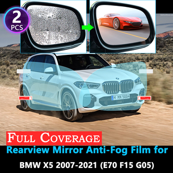 Full Cover Protective Film for BMW X5 E70 F15 G05 X5M 2007~2021 Car Rearview Mirror Rainproof Anti-Fog film Accessories 2019 image