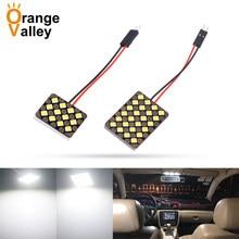 4 шт. T10 Festoon 12 15 18 24 48 Светодиодный 1210 SMD автомобильный купольный внутренний панельный светильник для чтения лампы адаптеры