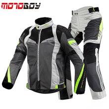 Motoboy夏のオートバイの乗馬スーツ男性のメッシュ通気性ヘビーオートバイレーシングスーツ秋防水騎士スーツ