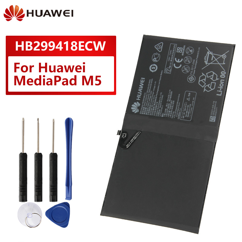 Orijinal yedek pil HB299418ECW Huawei MediaPad M5 CMR-W19 CMR-AL09 BAH2-L09 orijinal telefon pil 7500mAh