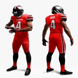 Amerikanischen rugby fußball uniform set mesh netz amerikanischer fußball jersey sublimation fußball sets