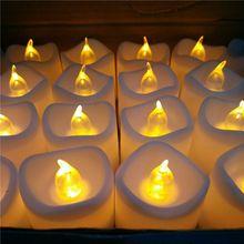 СВЕТОДИОДНЫЙ Электрический свечи на батарейках мерцающие бездымные беспламенные Свечи Свадебная вечеринка домашний декор романтический E65B