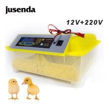 HHD melhor incubadora de ovos granja, nascedouro de aves, maquinário totalmente automático Display de temperatura 48 ovo incubadora galinha codorna chocadeira