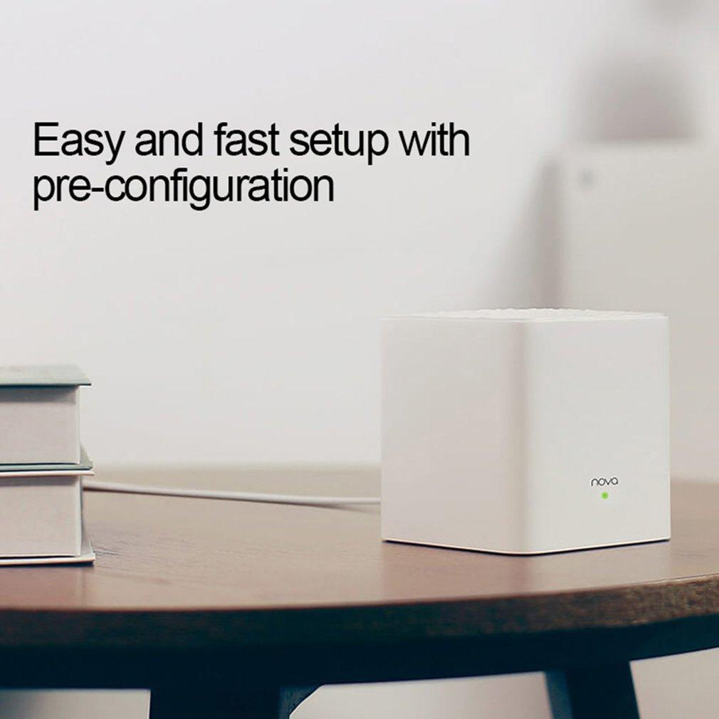 Tenda Nova MW3 AC1200 routeur sans fil double bande pour toute la maison couverture Wifi maille système WiFi pont sans fil, APP gestion à distance - 4