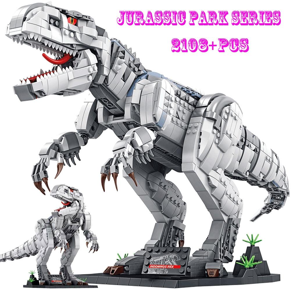 SEMBO Dinosaur Blocks Jurassic Park Indominus Rex Dinosaur World voltron Building Blocks Dino Dragon Toy Boy Toys  Kids Gifts