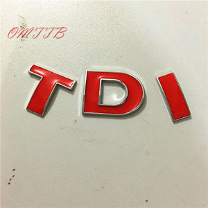 Car covers 3D TDI Badge Emblem Decal Sticker for VW Golf JETTA PASSAT MK4 MK5 MK6 skoda seat Car styling car accessories