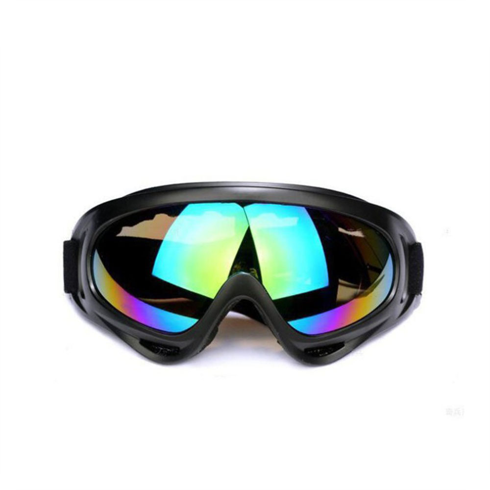 1pc Winter Windproof Skiing Glasses Goggles Outdoor Sports CS Glasses Ski Goggles Dustproof Anti-fog Moto Cycling Sunglasses