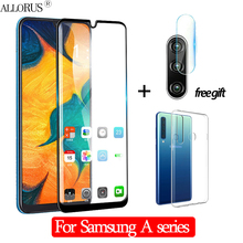 3-in-1 Case + Camera Tempered Glass For Samsung A50 Screen Protector Samusng A30 A40 Protective