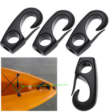 1PC Black Rope Buckle High Strength Durable Nylon Snap Clip Hooks Bungee Cord Hooks Canoe Rowing Buckles Boat Kayak Accessories(China)